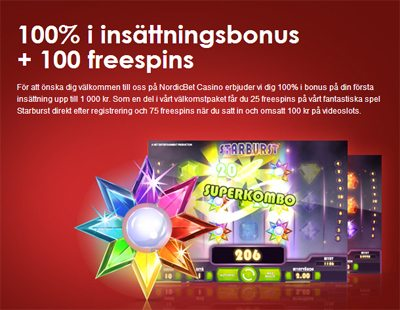 nordicbet 100 freespin