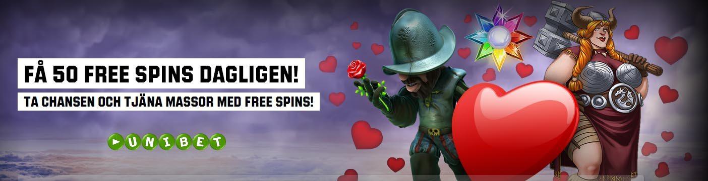 Få 50 free spins
